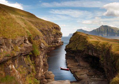 Naturhavnen ved Gjogv - rejser til Færøerne