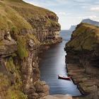 Gjogv naturhavn på Færøerne