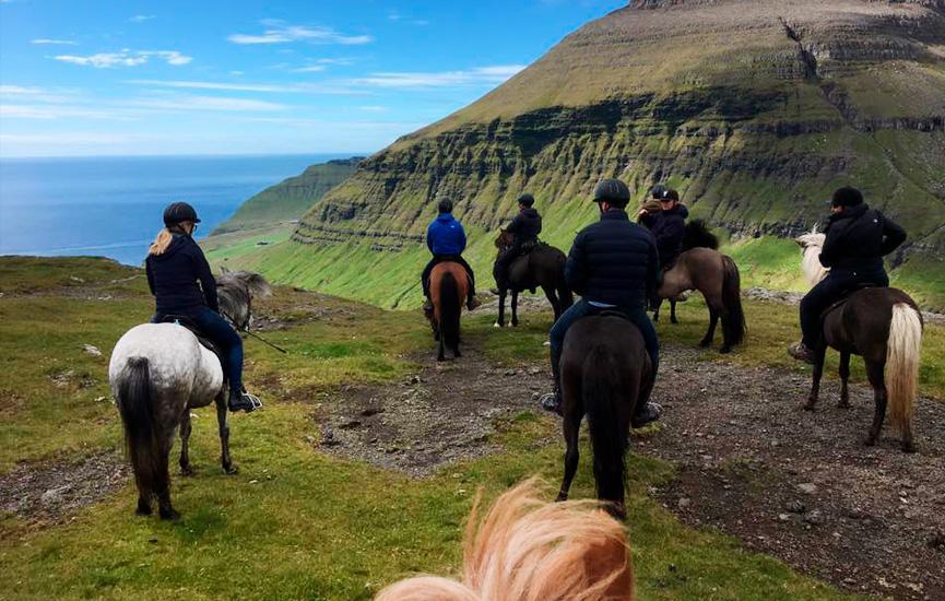 Rideture på islandske heste på Færøerne
