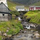 Vandfald i Kunoy Færøerne