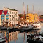 Torshavn på Færøerne og den charmerende havn