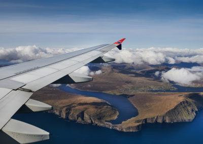 Ankomst med Atlantic Airways på kør-selv ferie, bilferie og grupperejser med FÆRØERNEREJSER