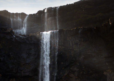 Fossa, det største vandfald på Færøerne på kør-selv ferie, bilferie og grupperejser med FÆRØERNEREJSER