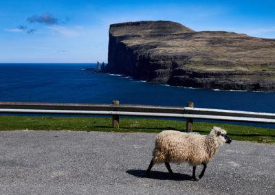 """""""Fåret"""" udsigt fra Streymoy til Kæmpen og Kællingen på kør-selv ferie, bilferie og grupperejser med FÆRØERNEREJSER"""