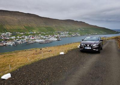 Udsigt ved Vagur på Suduroy på kør-selv ferie, bilferie og grupperejser med FÆRØERNEREJSER