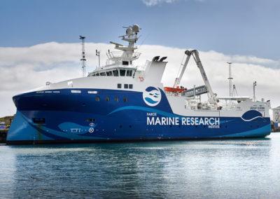 Havmiljøskibet i Torshavn - Marine Research Institute på kør-selv ferie, bilferie og grupperejser med FÆRØERNEREJSER