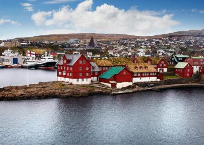 Den gamle bydel i Torshavn på kør-selv ferie, bilferie og grupperejser med FÆRØERNEREJSER