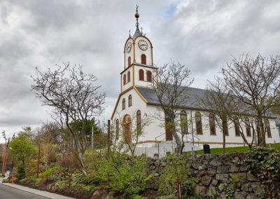 Kirken i Torshavn på kør-selv ferie, bilferie og grupperejser med FÆRØERNEREJSER